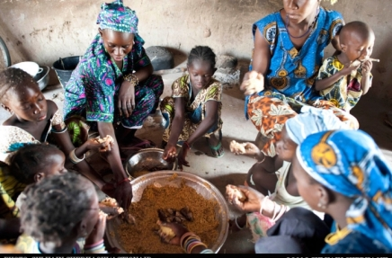 A family eating together. PHOTO/ActionAid